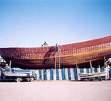 Boat building - Essaouira, Morocco by Shulie1