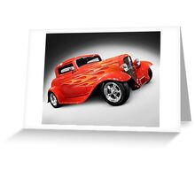 1932 Hot Rod Ford Coupe Greeting Card