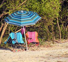 Colorful Beach Day by Rosalie Scanlon