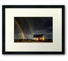 Rainbow Shed Framed Print