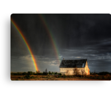 Rainbow Shed Canvas Print