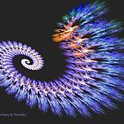 Electric Spiral - A Fractal Design by Gary Timothy