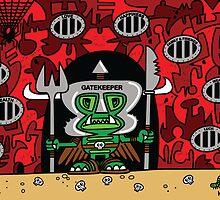The Gatekeeper Tiki by KIDTIKI