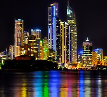 Paradise Nights-Surfers Paradise Gold Coast by Michael Hallam