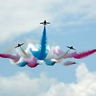 Red Arrows split by Colin Hollywood Photography