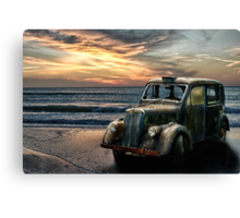 Abandoned Taxi Cab Canvas Print