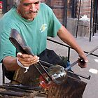 Mexican glass blower by Nancy Richard