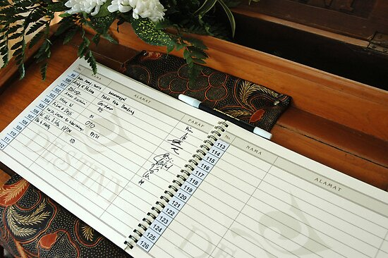 wedding guest book by bayu harsa