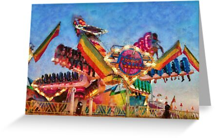 Carnival - A most colorful ride by Mike  Savad