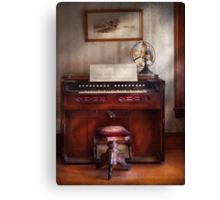 Musician - Organist - My Grandmothers organ Canvas Print