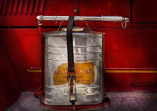 Fireman - Indian Pump  by Mike  Savad