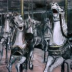 Carousel Horses by WoolleyWorld