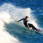 Surfer off Narrabeen Pool Sydney NSW by Doug Cliff