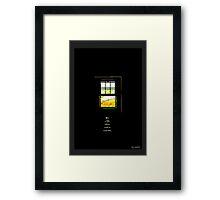 A Little Window Framed Print