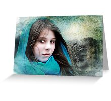 Isabella In The Breeze Greeting Card