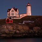 Christmas at Cape Neddick by hawkeye978
