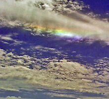 Rainbow in the clouds by robert murray