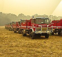 Staging Area, Jamison, North East Fires 2006 by FireFrontPhotos