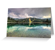Mirrored pistes Greeting Card