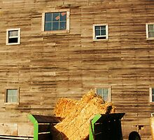 Hay wagon and barn by shilohrachelle