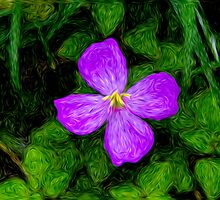 Purple Painted Flower by Jessica Veltri