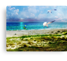 On Canvas Wings I Fly Canvas Print