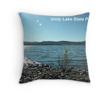 Unity Lake Turquoise Reflections Throw Pillow