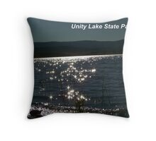 Unity Lake Black Jewels Throw Pillow