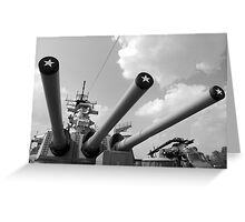 Her famous 16inch Guns Greeting Card