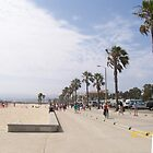 Venice Beach Board Walk by Blue Skye Art  & Photography