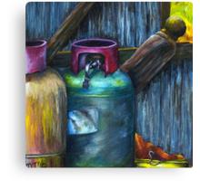 Gas Bottles - Romsey Farm Shed Canvas Print