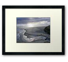 """Silver Serpent"" at Strahan's Ocean Beach Framed Print"