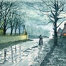 Church Lane, Sewerby by Moonlight by Glenn Marshall