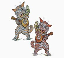 Jazzy Banjo Cat T Shirt by simpsonvisuals