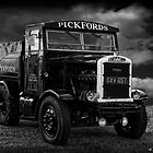 1945 Scammell CD45 Ballast Tractor B&W by David J Knight