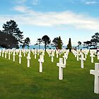 American Cemetery at Omaha Beach, Normandy by Paul Woloschuk