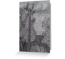 Live Wire Greeting Card