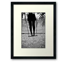 on swing Framed Print