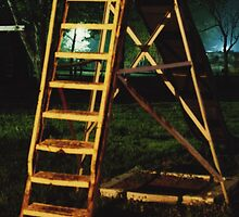 Night slide in Wakarusa by agenttomcat