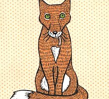 Fox and Bird Two Print by Anita Inverarity