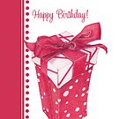 Red Gift Box Happy Birthday by mrana
