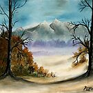 landscape mountains oil painting by derekmccrea