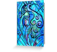 Mostly Blue Greeting Card