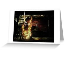 In Flames We Trust Greeting Card