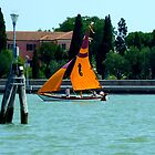 Dhow Rig on Venice Laguna by Keith Richardson