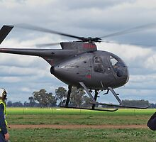 Hughes 500 Helicpter Takeoff by David Hunt