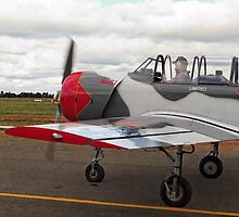 Yak Warbird Taxiing for Departure by David Hunt