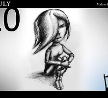 July 20th - Melancholic Pose by 365 Notepads -  School of Faces