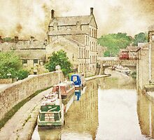 Skipton Canal Barges by Catherine Hamilton-Veal  ©
