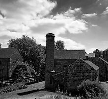 Cheddleton Flint Mill B&W by David J Knight